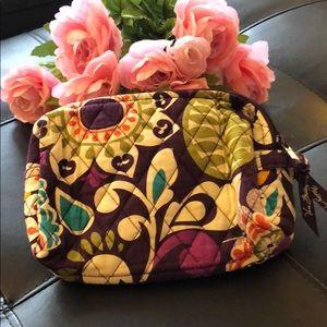 Vera Bradley Plum Crazy Medium sized Makeup Bag